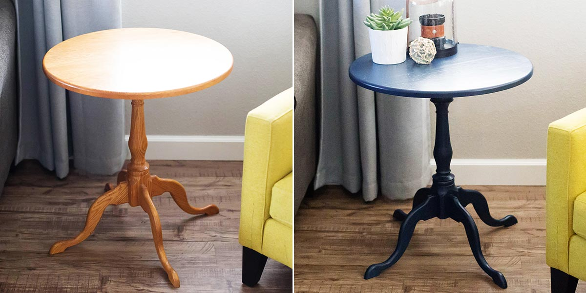 Before and After side table image