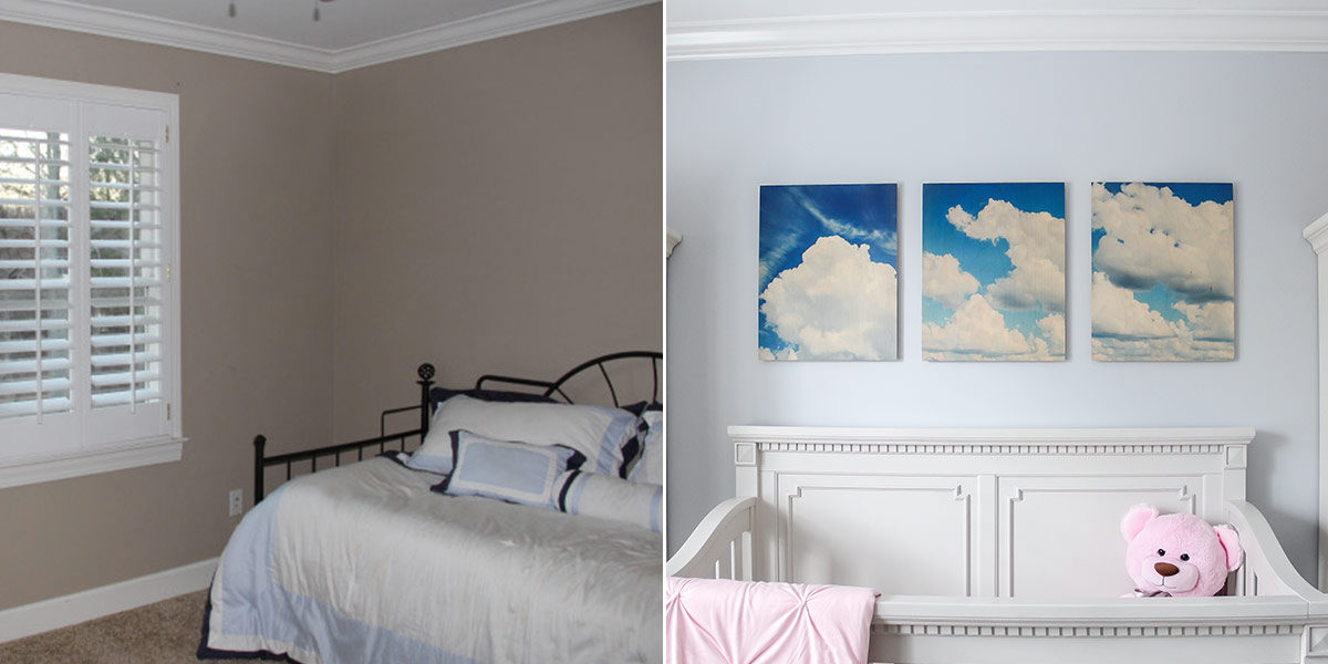Before and After of Baby Nursery, Refreshed