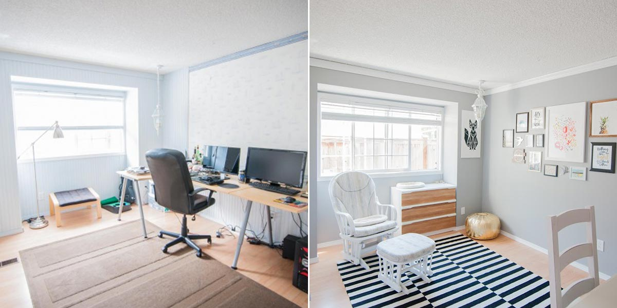 Dwell Beautiful Multipurpose Room project before and after image