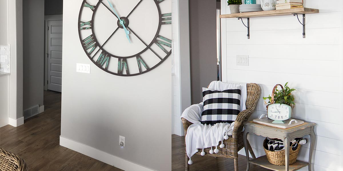 Before and After Shiplap Wall Accent Update