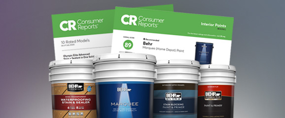 Consumer Report for Select Behr Products.