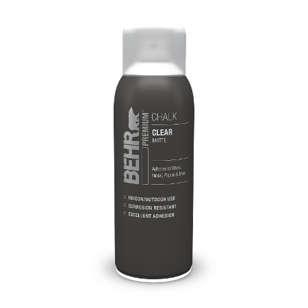 Bottle of chalk decorative paint