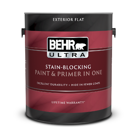 1 gallon can of Behr Ultra Exterior Flat paint