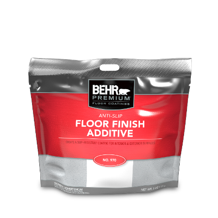 Bag of non-skid floor finish additive.