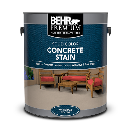 1 gal can of Behr Concrete Stain.