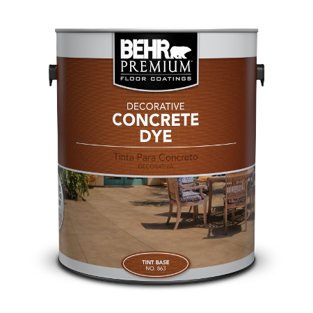 Can of decorative concrete dye