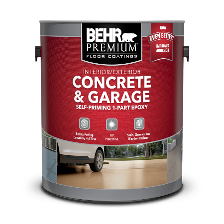 Can of concrete & garage self-priming 1-part epoxy