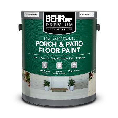 One gallon can of Porch & Patio Floor Paint Low-Lustre Enamel
