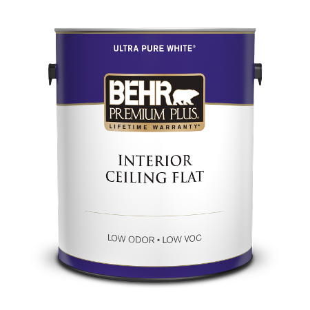 Can Behr Premium Plus Ultra interior ceiling flat paint