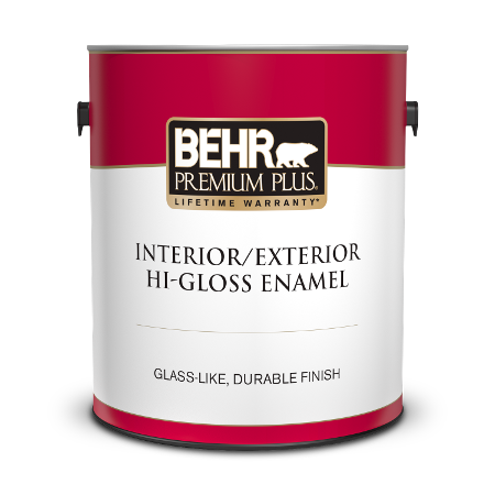 Can of paint & primer in one hi-gloss enamel