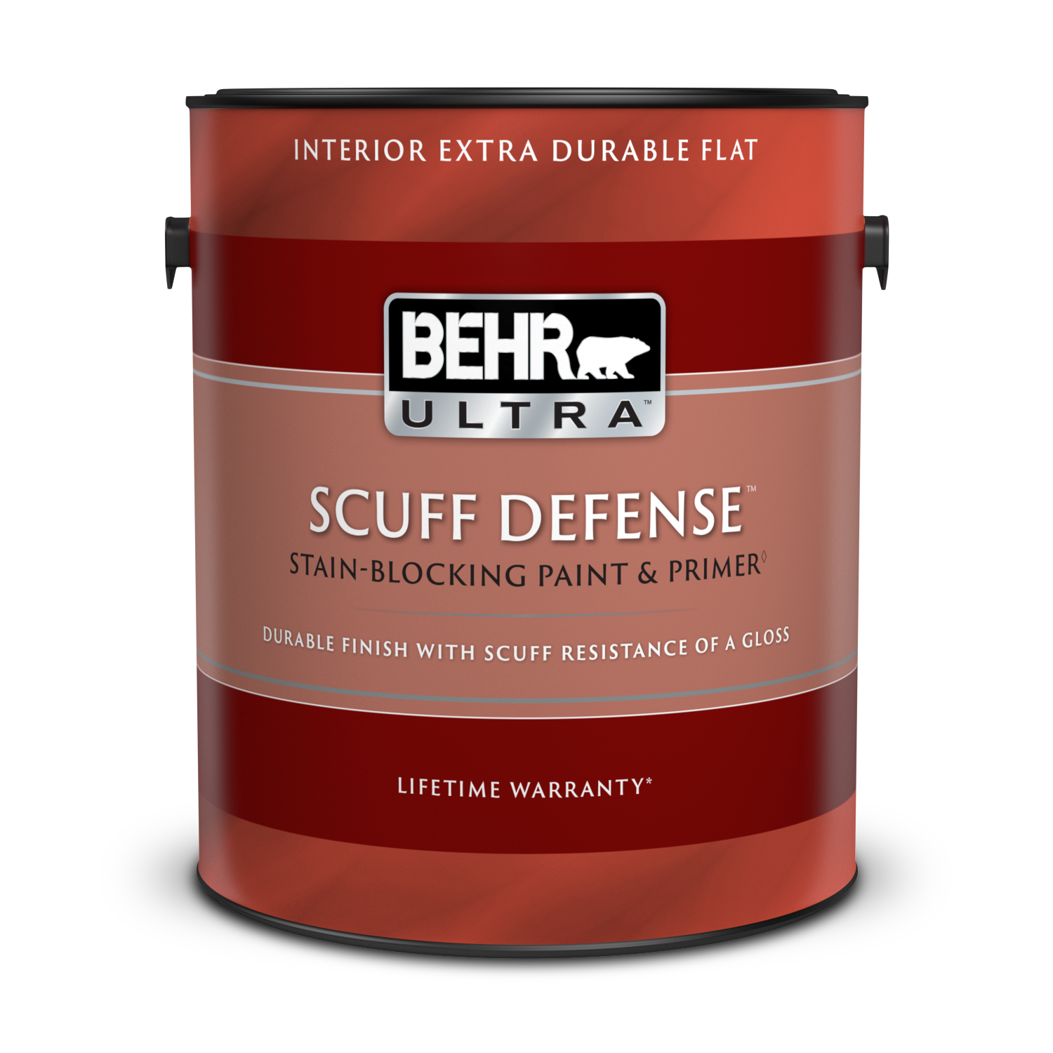 1 gal can of Behr Ultra Scuff Defense Interior Extra Durable Flat paint