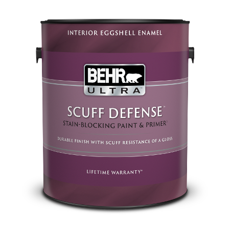 1 gal can of Behr Ultra Scuff Defense Interior Eggshell Enamel paint