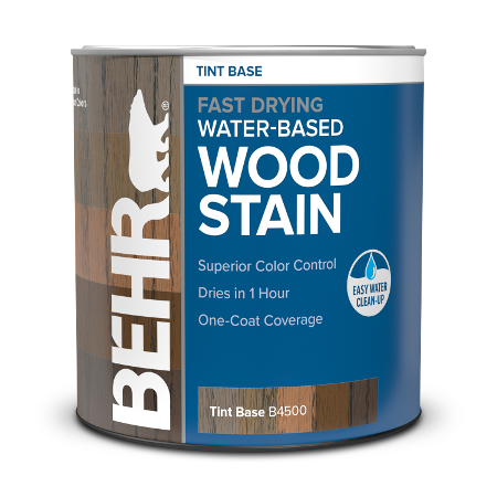 Can of Behr Water Based Wood Stain