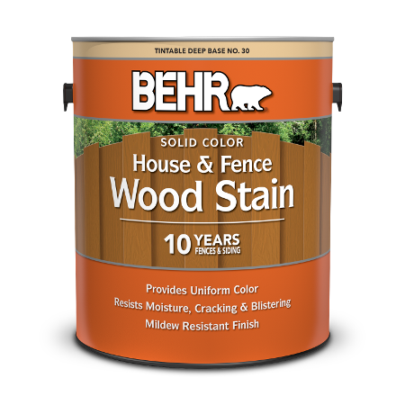 1 gal can Behr Solid Color House and Fence Wood Stain