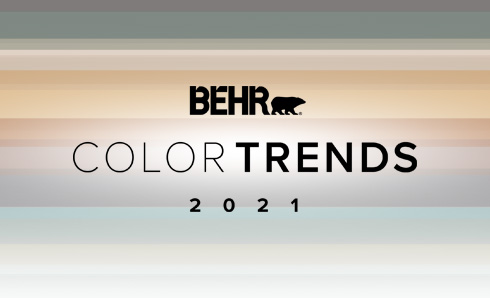 2020 Color Trends logo with color chips of 2020 Trends colors below
