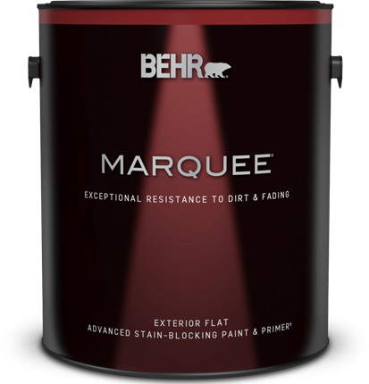 Large 1 gallon can of Marquee Exterior Flat Paint