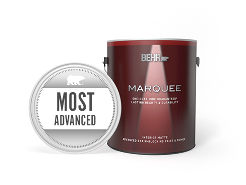 Can of Behr Marquee Interior Matte Paint and Primer